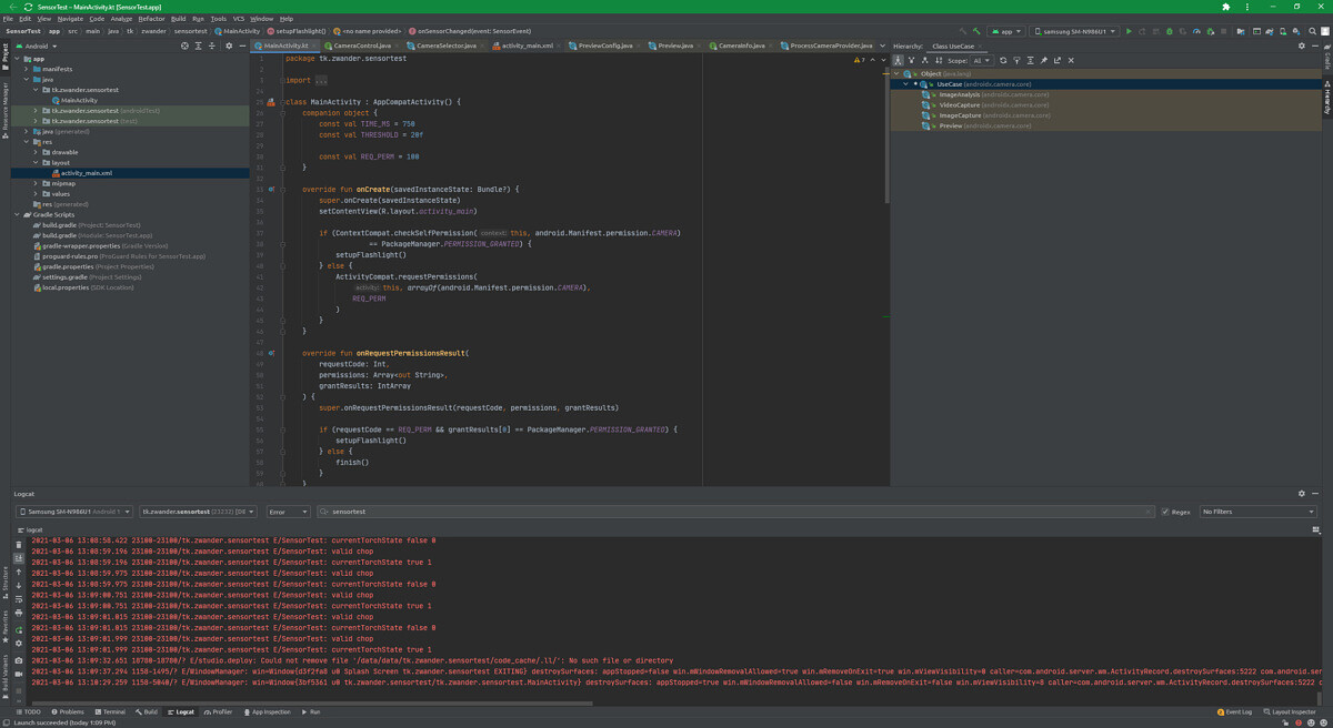 JetBrains Projector running Android Studio in Chrome