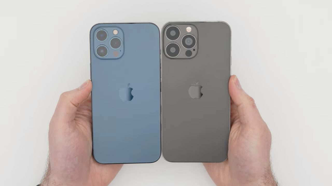 iPhone 13 dummy unit compared to iPhone 12