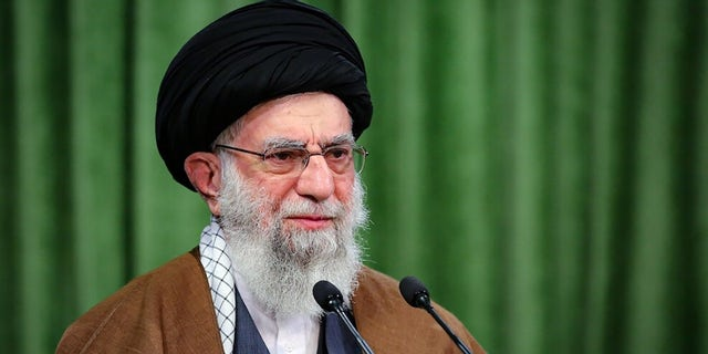 Iranian Supreme Leader Ali Khamenei gives a live broadcast on state television on … November 03, 2020. (Photo by Iranian Leader Press Office / Handout/Anadolu Agency via Getty Images)