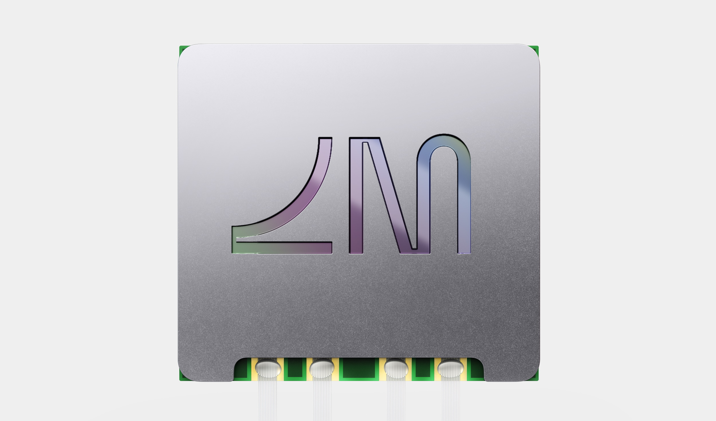 A Lightmatter chip with its logo on the side.