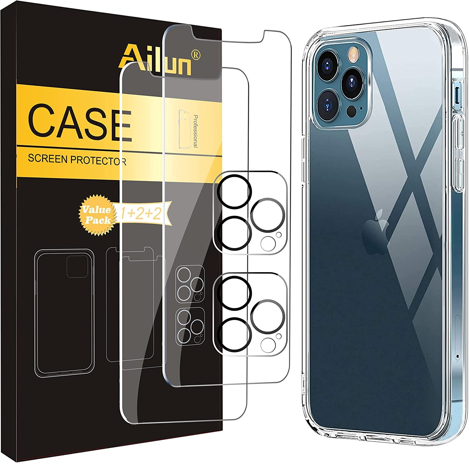 Ailun Lens and Screen Protective Combo
