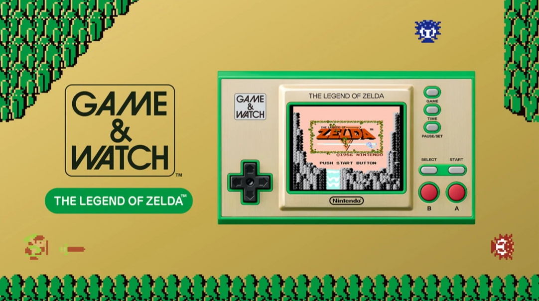 A handheld gaming machine with Zelda games on it.
