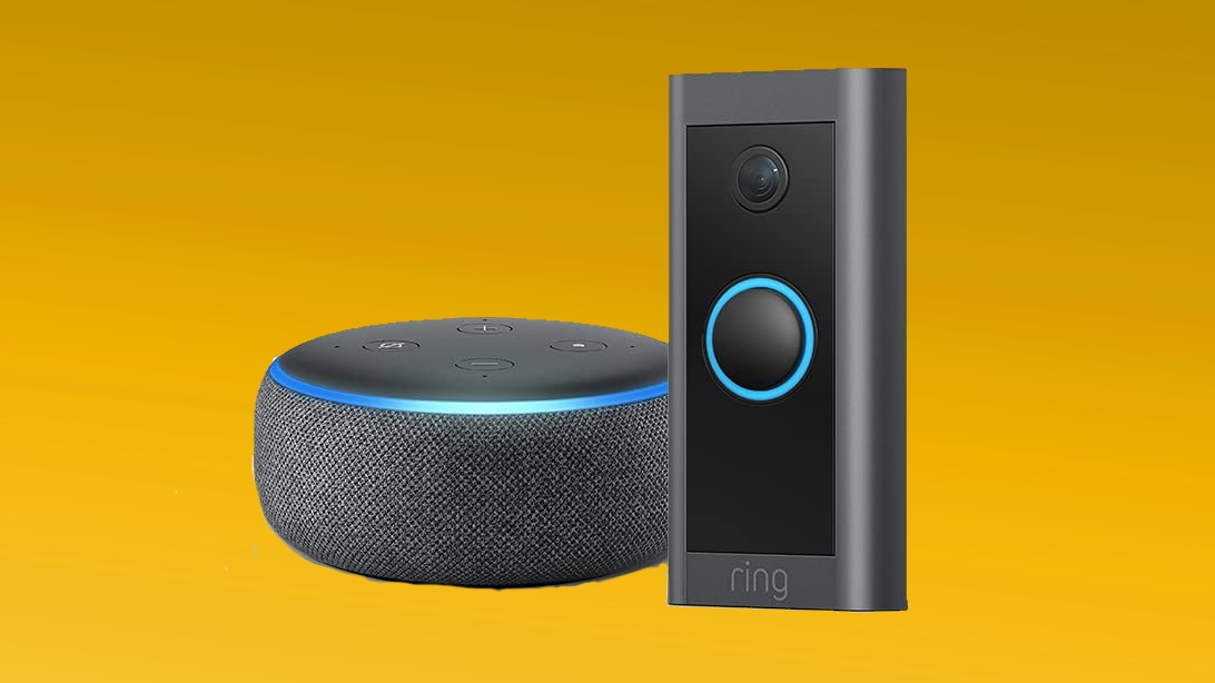 Ring Video Doorbell Wired with Echo Dot