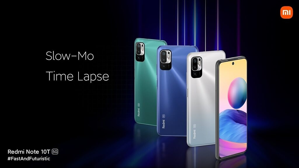 Redmi Note 10T lineup in three colors