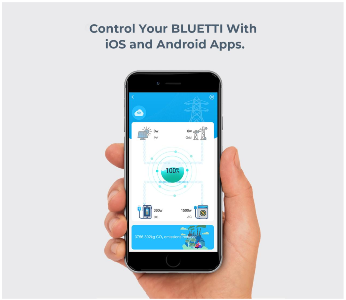 BLUETTI smartphone app for iOS and Android