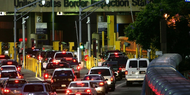 The U.S.-Mexico border crossing from Tijuana, Mexico, to San Ysidro, California, is seen in 2006. (Getty Images)