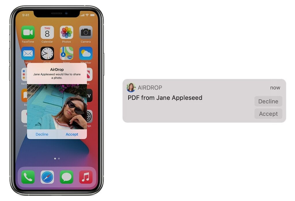 AirDrop to iPhone and Mac