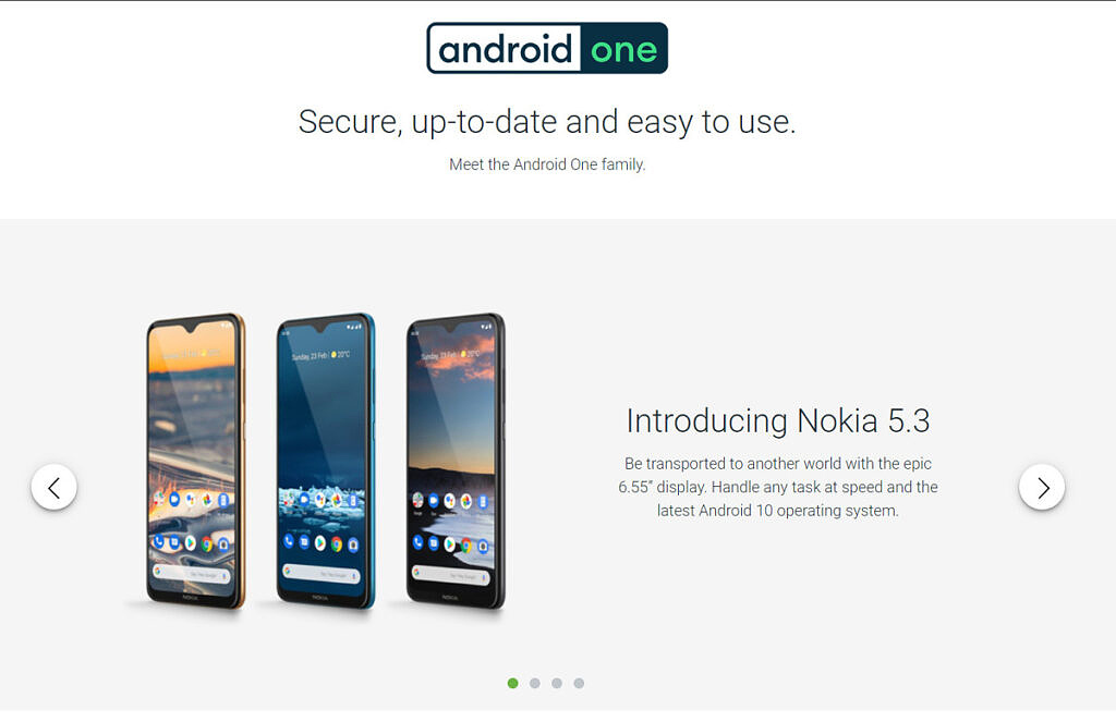 Google Android One site