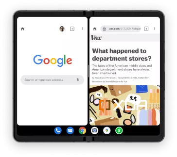 New taskbar for foldable phones in Android 12.1